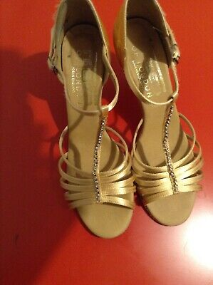 Freed Tina Latin Dance Shoes-Nude Satin-Salsa-Ballroom-Suede Sole - Size 6 👠