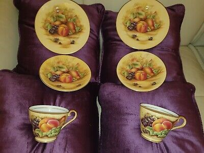 Aynsley Orchard Gold tea cup trio 2 sets Cabinet pieces more available