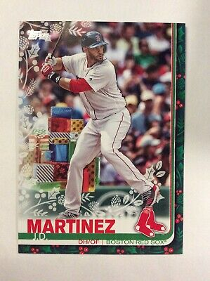 2019 Topps Holiday J.D. Martinez BOSTON RED SOX SP Variation Presents