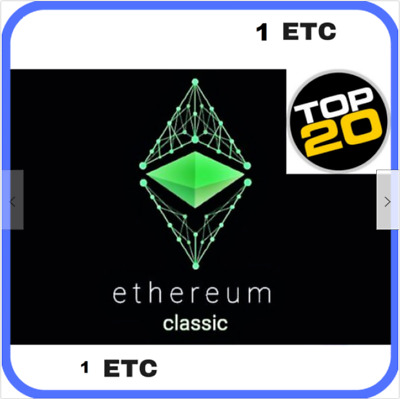 Ethereum Classic 1 ETC | MINING CONTRACT - Crypto Currency | Top 20 Coin!!