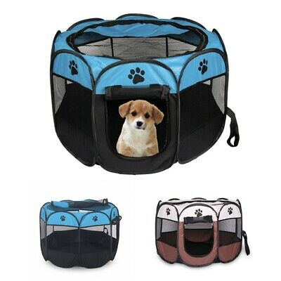 1X(Portable Folding Pet tent Dog House Cage Dog Cat Tent Playpen Puppy Kenn D4W6
