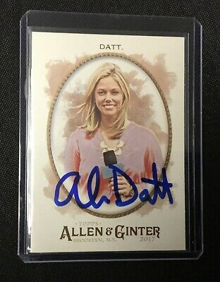 Alexa Datt MLB Topps Allen & Ginter Signed Card Authentic Autograph Auto *2
