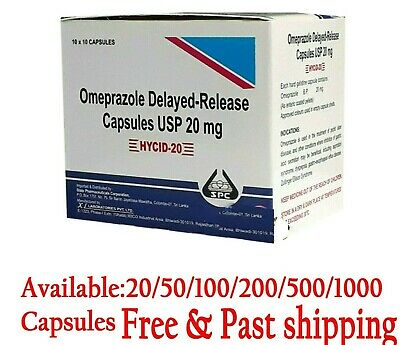 OTC OMEPRAZOLE  Acid Reducer, Heart Burn Relief Treatment 20mg  Free Shipping