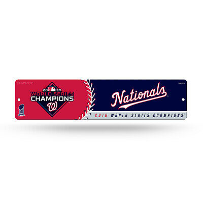 Washington Nationals 2019 World Series Champions Street Sign NEW 4x16 Inches