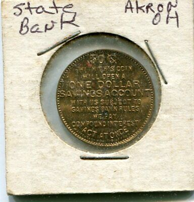 The State Bank Akron Oh  50Cent With This Coin Will Open A $1 Savings Acct Br