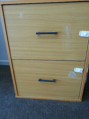 2 Drawer Filing Cabinet Office/Study Shelves Storage Cupboard