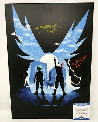 Chris Sabat & Clifford Chapin signed 18x13 inch Displate Metal My Hero Academia