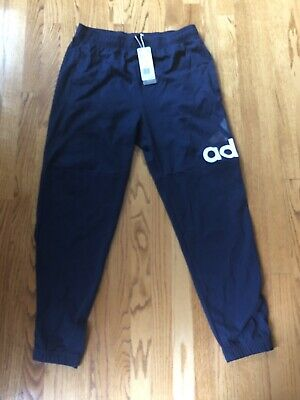 NEW Adidas Essentials Performance Logo Pants Mens L Navy Blue Training MSRP $45