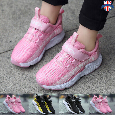 Children Shoes Boys Girls Knit Running Sport School Trainers Casual Lace Up Size