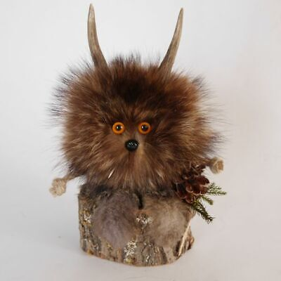 Wolpertinger Preparation Mini with Pinecone and Orange Eyes Mythical Creatures
