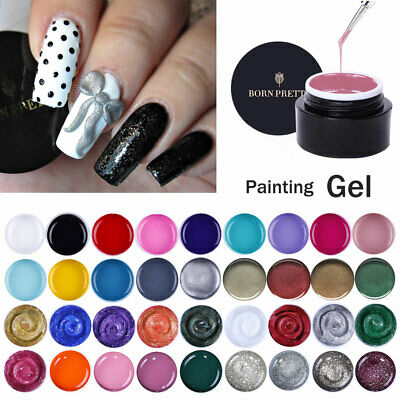 BORN PRETTY 3D Nail Art Gel Polish Carve Draw Painting Gel Acrylic Color UV Tips