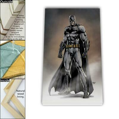 """16""""x26"""" DC Batman Paintings HD Canvas prints Framed Home decor Wall art Pictures"""