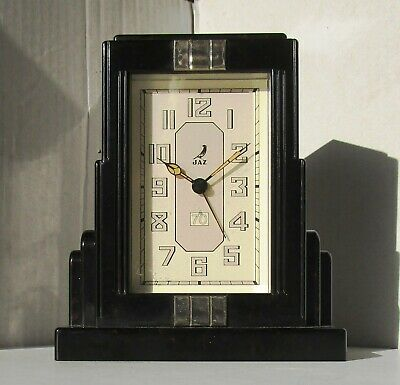 Very Rare Version of Limited Edition Black and Red Bakelite Alarm Clock JAZ