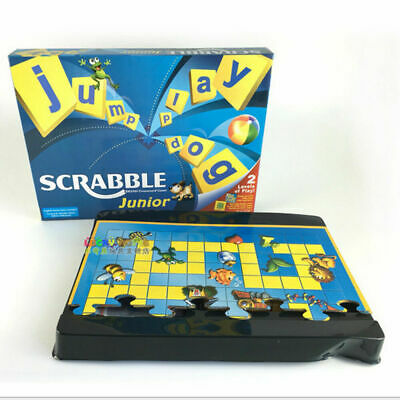 HOT Junior Scrabble Game Family Party Board Game Kids Educational Toy UK Stock