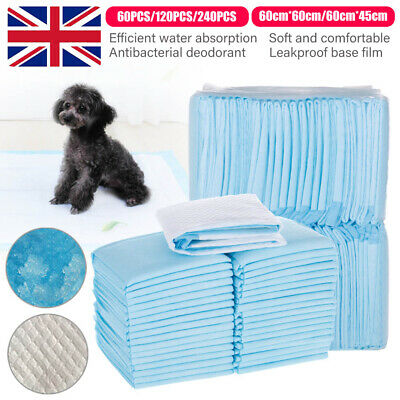60 120 240 | 60X60Cm Large Puppy Training Pads Toilet | Pee Wee Pet Mats Dog Cat