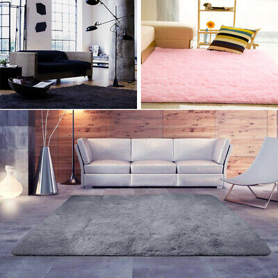 Large Fluffy Rugs Anti-Slip RUG Super Soft Carpet Mat Living BedRoom Floor Hot