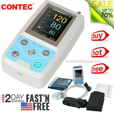 FedEx CONTEC Ambulatory Blood Pressure Monitor+Software 24h NIBP Holter ABPM50