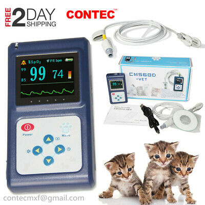 FedEx 2D Veterinary Pulse Oximeter Handheld Vet SPO2 Pulse Tongue Probe Software