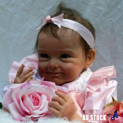 "22"" Life Like Reborn Girl Doll Soft Silicone Fake Baby Newborn Dolls Toddler New"