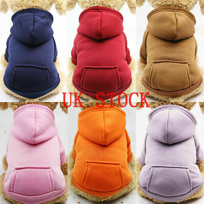 UK Pet Dog Hoodie Sweater Jumper Coat Warm Dogs Clothes Puppy Apparel Costume