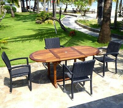 en places table ENSEMBLE JARDIN 12 200 300 DE cm teck XTPkZiwulO