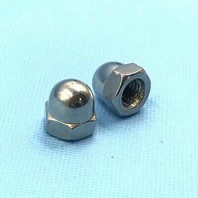 12Pcs Stainless Steel Acorn Hex Nut Right Hand Thread M5 x 0.8 [DORL_A]