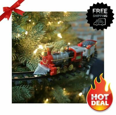 "Christmas Tree Train 14.25"" Flashing Headlight/Realistic Sound Battery Operated"