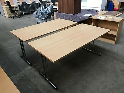 2 X Beech Folding Office Tables, Desk, Meeting, Conference, Boardroom, Canteen