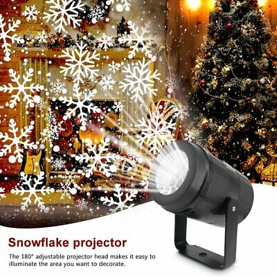 Snowflake Christmas Laser Projector Moving LED Light Landscape Xmas Lamp Outdoor