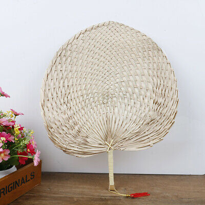 Hand-woven Baby MosquitoRepellent Fan Summer Manual Straw Hand Fans Palm Leaf uq