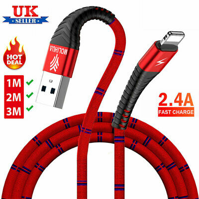 USB to Lightning Data Sync Charging Cable Lead Charger Wire Cord For iPhone iPad