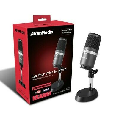 AVerMedia AM310 USB Microphone for Studio Quality Sound Live Streaming Music