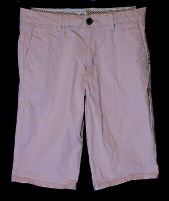 Boys River Island Dusky Light Pink Chino Denim Long Board Shorts Age 11-12 Years
