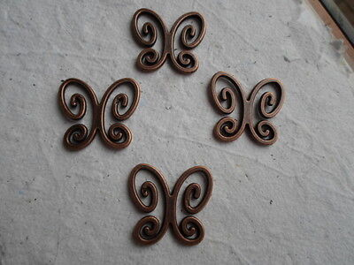 Red Copper ~ 5 Deco Art Butterfly Charms