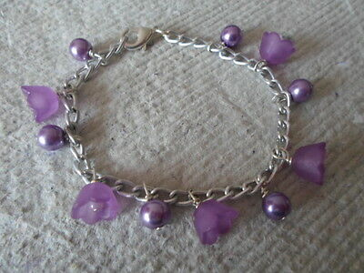 Handmade Bracelets ~ Little Girls ~ Purple ~ Charms