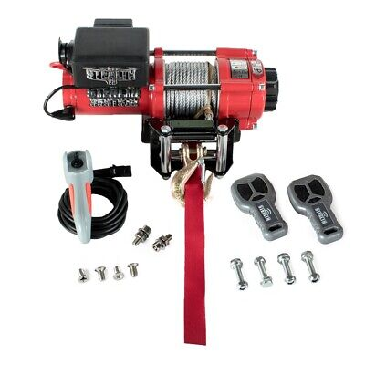 Stealth 3500lb 12v Electric Winch with Steel Rope