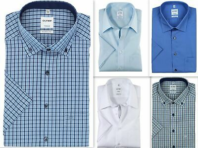 Chemise Manches Courtes Homme Olymp Tendenz Modern Fit Pur Coton