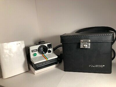 Polaroid 1000 Green Button Instant Land Camera With Case And Instructions TESTED