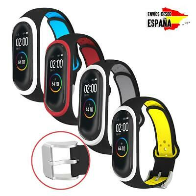 Correas con agujero de colores para Xiaomi Mi Band 3 y 4 silicona flexible