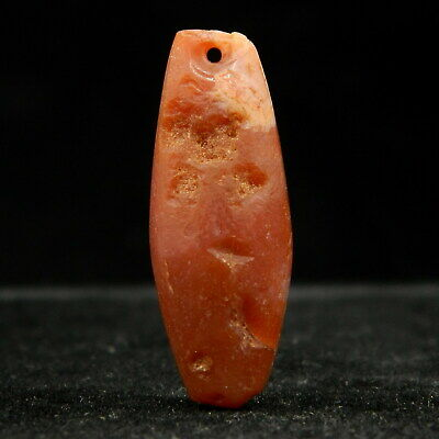 KYRA MINT - Ancient AGATE Bead PENDANT - 28.5 mm long - Neolithic AGE - Sahara
