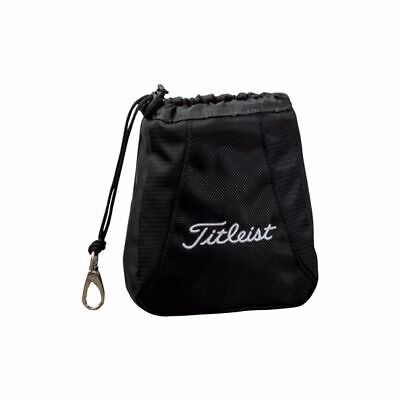 New 2019 Titleist Golf Valuables Pouch Travel Drawstring Bag Color: Black / Red