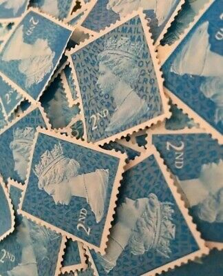 200 x 2nd Class Security Stamps Unfranked Off Paper No Gum + 10 extra every 200