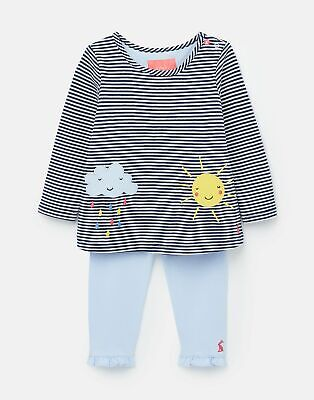 Joules 208577 Jersey Applique Top And Leggings Set - CLOUD AND SUN SET