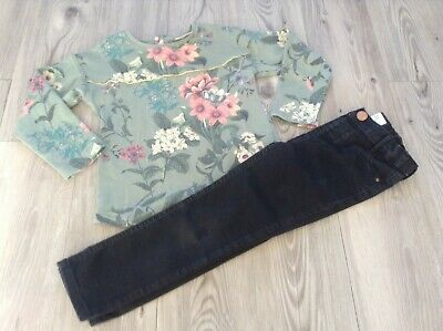 ( 4) River Island Next Girls Small Autumn Winter Bundle / Outfit 4-5Yrs Top Jean