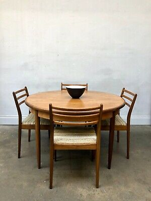 Vintage 1960s G Plan Fresco Teak Dining Table & Chairs Kofod Larsen Danish Retro