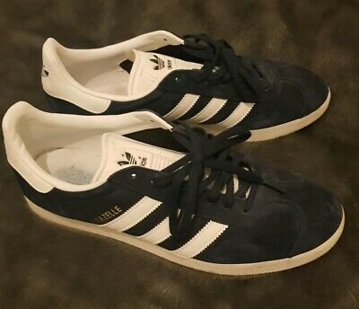 Blue Suede Adidas Gazelle size 9 Great Condition hardly worn