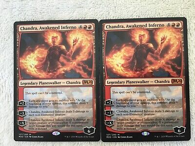 Magic the Gathering 1x Chandra, Awakened Inferno w/emblems Core 2020 Pack Fresh