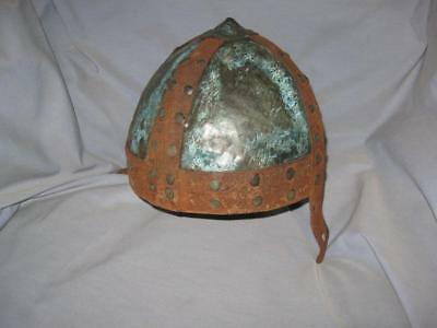 Ancient Antique UNIQUE HANDMADE Bronze Viking Armour Helmet Replica