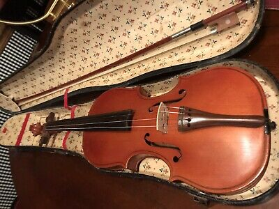 "Old Unlabeled Violin w/ Case 23"" Very Old! Pretty"