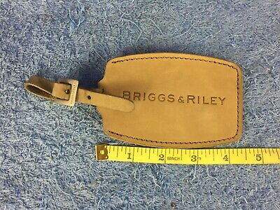 Briggs and Riley Leather Luggage Name Tag